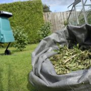 shredder with bag of chippings