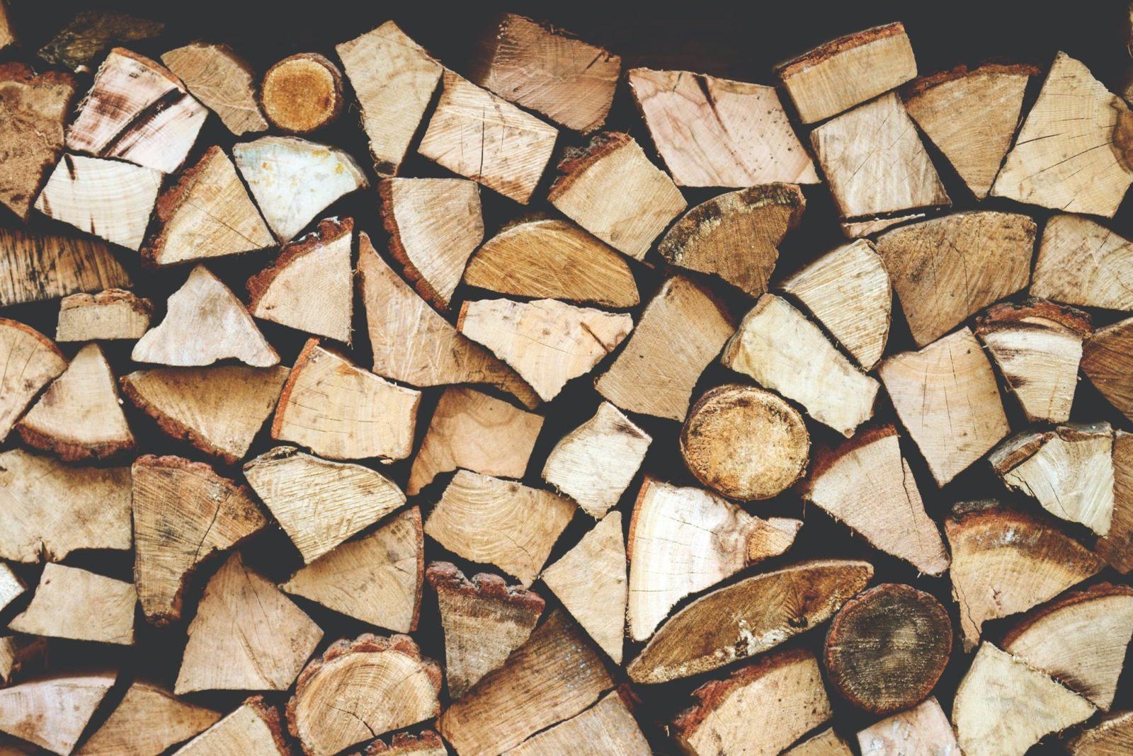 pile of split wood