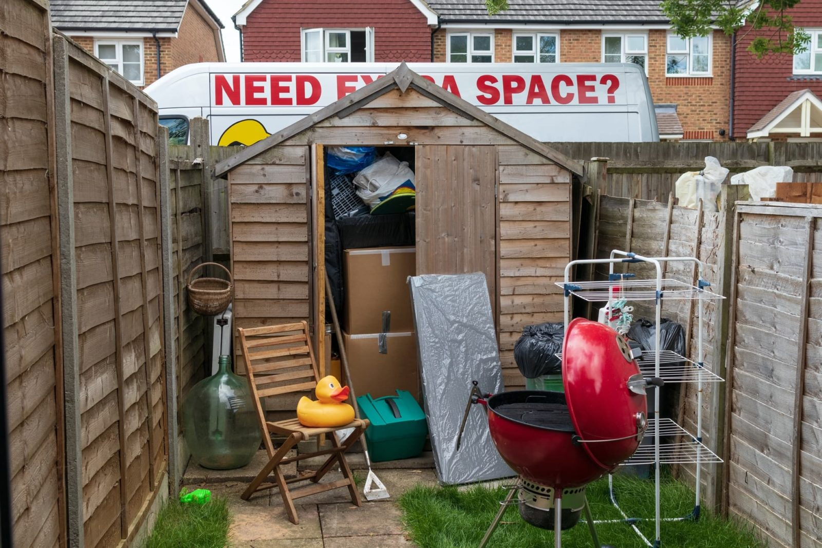garden shed full to the brim
