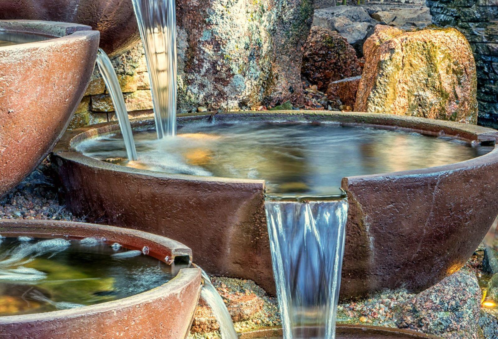 garden water feature bowls