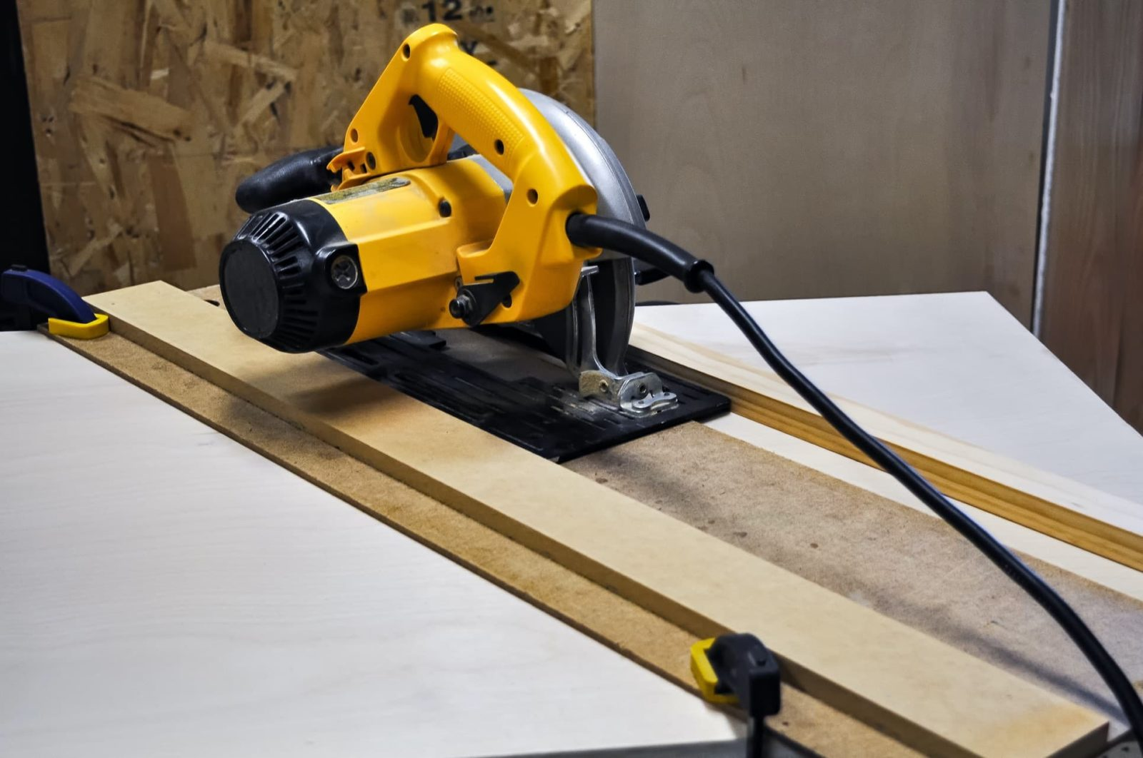 plunge saw on home made track