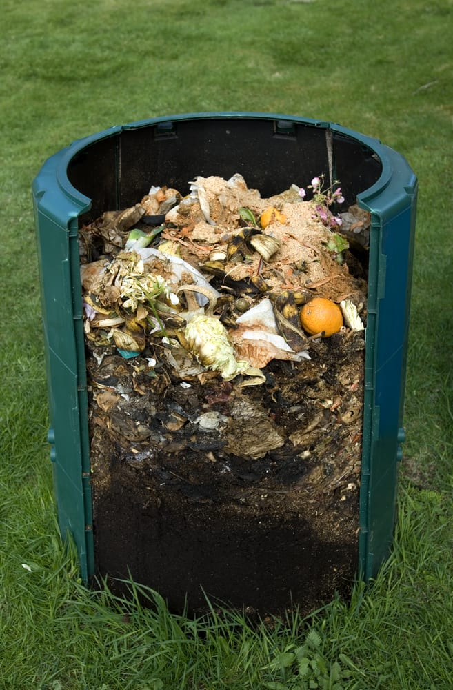 cross section of a compost bin