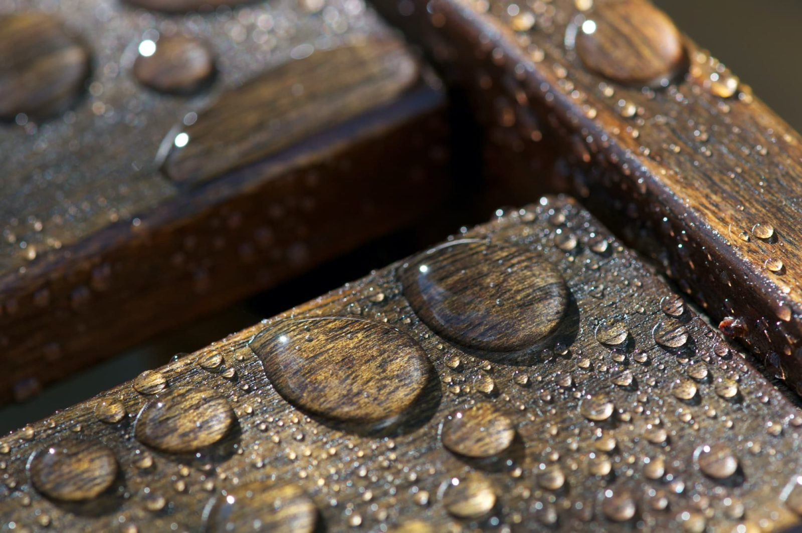 water beading on varnished furniture