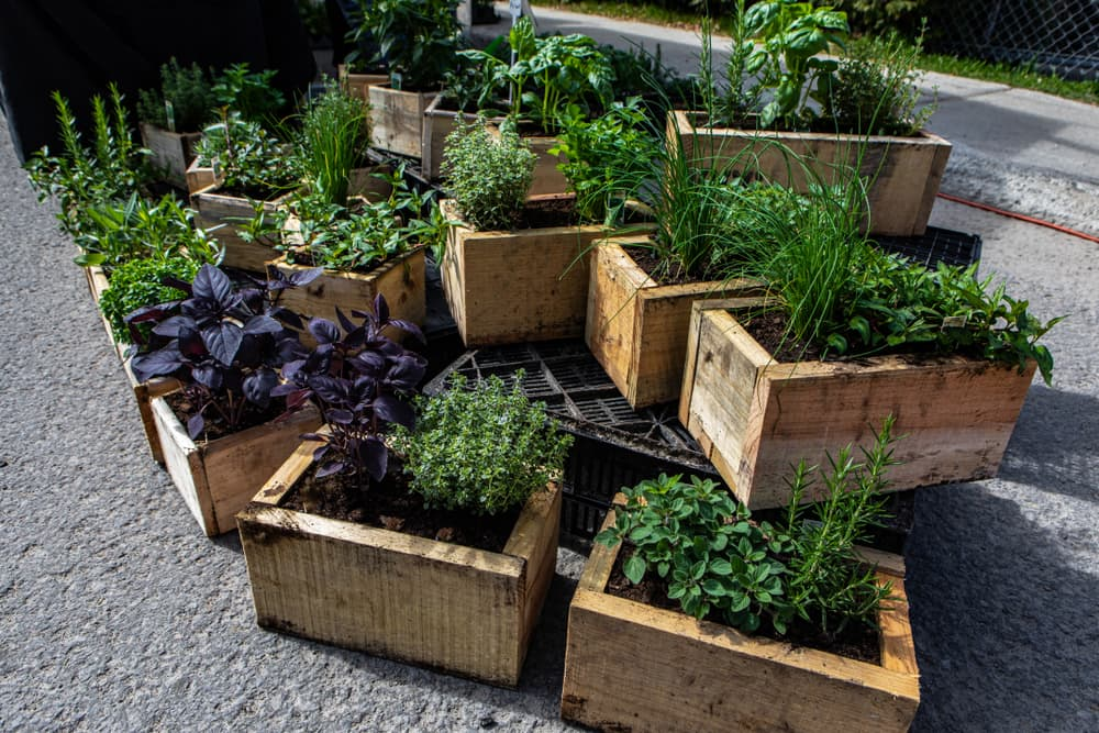 planters stacked on top of one another