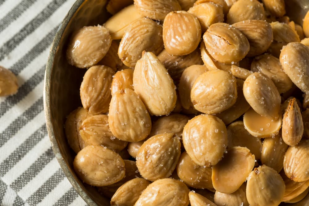 organic roasted Marcona Almonds on a plate