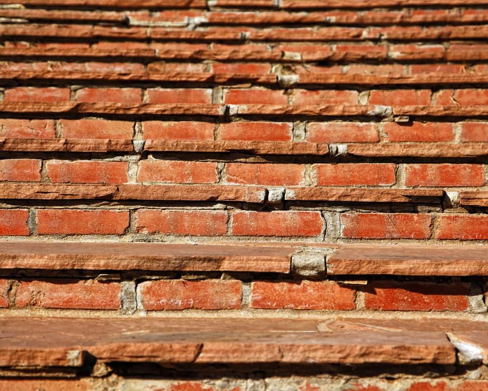 red brick steps leading upwards