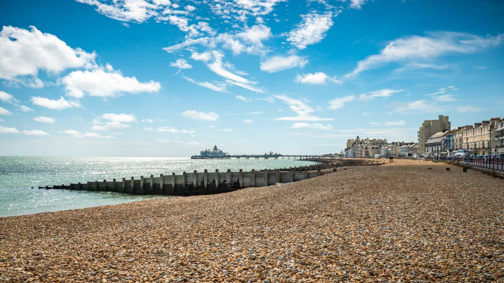 Eastbourne seafront with the pier in the background