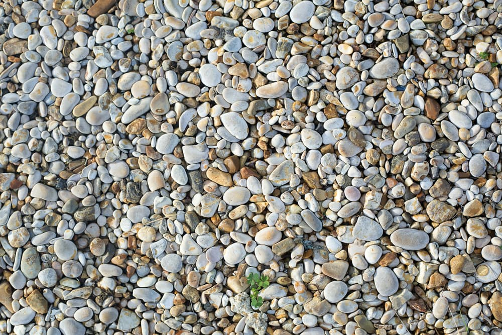 hundreds of pebbles