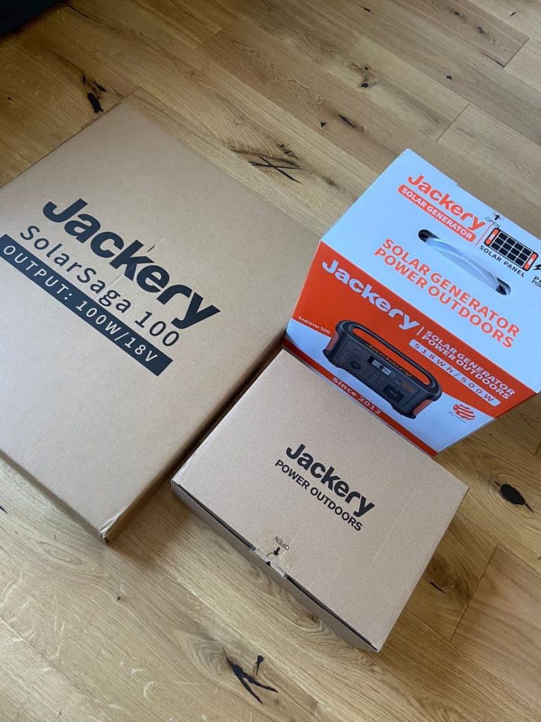 jackery boxes as they arrived